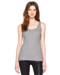 Michael Kors Gray Michael Ribbed Derby Sweater Tank