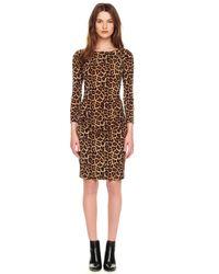 Michael Kors Brown Michael Leopardprint Zipper Dress