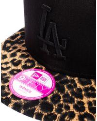 KTZ Black Leopard New York Yankees Snapback Cap