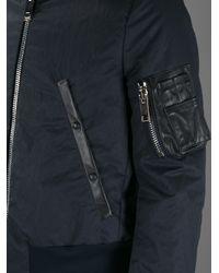 Paul Smith Blue Chunky Zip Bomber Jacket for men