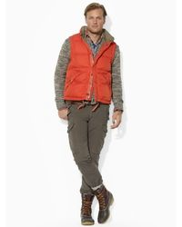 Polo Ralph Lauren Orange Elmwood Down Vest for men