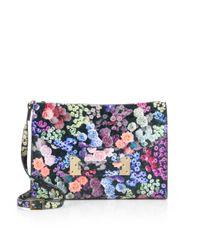 Sophie Hulme Multicolor Floral printed Soft Envelope Convertible Clutch