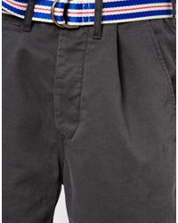 Tommy Hilfiger Gray Denim Shorts for men