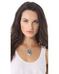 Alexis Bittar | Blue Lucite & Swarovski Crystal Pendant Necklace | Lyst