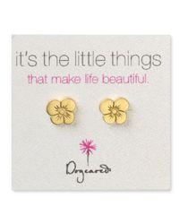 Dogeared | Metallic Graces Flower Earrings | Lyst