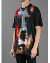 Givenchy Black Dog Print Tshirt for men