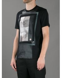 Givenchy Black Statue Print Tshirt for men