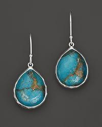 Ippolita - Metallic Sterling Silver Wonderland Mini Teardrop Earrings in Bronze Turquoise - Lyst