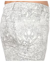 J Brand | White J Brand 620 Camelot Printed Superskinny Midrise Jeans | Lyst