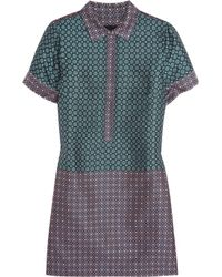 J.Crew | Blue Silkjacquard Shirt Dress | Lyst