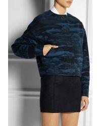 KENZO Blue Cloud-print Wool blend Jacket
