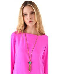Lulu Frost - Metallic Althea Tassel Necklace - Lyst