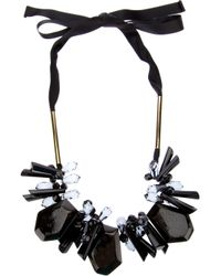 Marni - Black Ribbon and Resin Necklace - Lyst