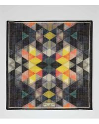 Reiss Multicolor Holiday Triangular Print Pocket Square for men