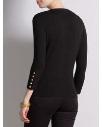 Somerset by Alice Temperley Black Button Detail Cardigan