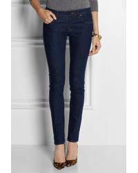 Victoria Beckham Blue Vb1 Superskinny Mid-Rise Jeans