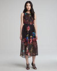 Alice + Olivia Multicolor Alice Olivia Aron Floralprint Maxi Dress