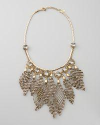 Colette Malouf Metallic Ava Wiretassel Bib Necklace
