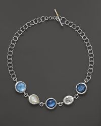 Ippolita - Metallic Sterling Silver Wonderland 5 Large Multi Shape Stone Necklace in Lido 18 - Lyst
