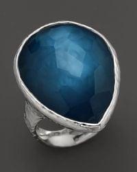 Ippolita | Metallic Sterling Silver Large Teardrop Ring In Indigo | Lyst