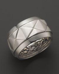 John Hardy - Metallic Mens Naga Silver Scale Band Ring for Men - Lyst