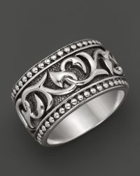 Scott Kay | Metallic Mens Sterling Silver Deep Relief Engraved Band Ring for Men | Lyst