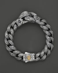 Scott Kay | Metallic Mens Sterling Silver Engraved Guardian Bracelet for Men | Lyst