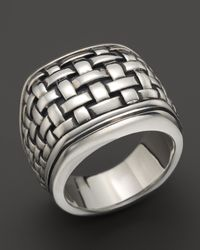 Scott Kay - Metallic Sterling Silver Basketweave Ring - Lyst