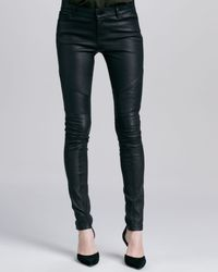 Vince Moto Leather Pants Black