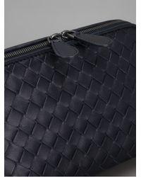 Bottega Veneta   Black Intrecciato Silk Faille Knot Large Box Clutch   Lyst