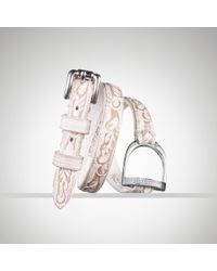 Ralph Lauren | White Tooled Triplewrap Bracelet | Lyst