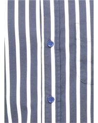 Band of Outsiders Gray Striped Cotton Shirt for men
