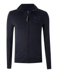 G-Star RAW Blue Zip Through Sweat Shirt for men