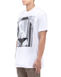 Givenchy White Neoclassic Sculpture Print T-shirt for men