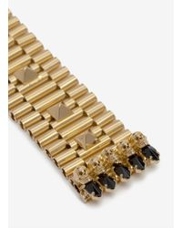 Iosselliani - Metallic Thick Chain Studded Bracelet - Lyst