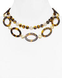 Lauren by Ralph Lauren Brown Highland Tortoise Oval Link Necklace 18