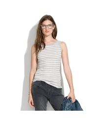 Madewell Natural Small Trades Simpleboat Striped Tank