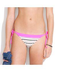 Madewell Pink Telegraphstripe Bikini Bottom