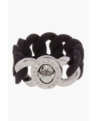 Marc By Marc Jacobs | Black Rubber Katie Turnlock Bracelet | Lyst