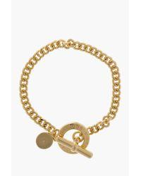 Marc By Marc Jacobs - Metallic Gold Mini Toggle Bracelet - Lyst