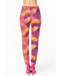 Nasty Gal Multicolor Dream Tropic Trouser Pant