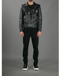 Saint Laurent - Black Biker Jacket for Men - Lyst