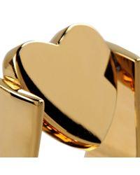 Stella McCartney Metallic Heart Ring