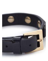 Valentino | Black Rockstud Patent Leather Skinny Bracelet | Lyst