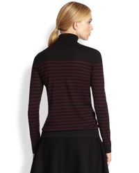 Akris Punto Black Striped Wool Sweater