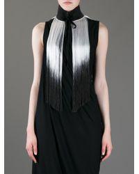 Ann Demeulemeester | White Oversize Fringe Necklace | Lyst