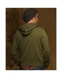 Denim & Supply Ralph Lauren Green French Terry Flag Hoodie for men