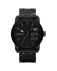 DIESEL - Black Ion Plated Stainless Steel Bracelet 49mm for Men - Lyst