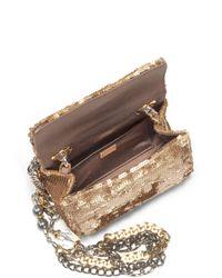 Dolce & Gabbana Metallic Sequined Small Chain Bag