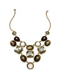 INC International Concepts | Metallic Gold-tone Multistone Bib Necklace | Lyst